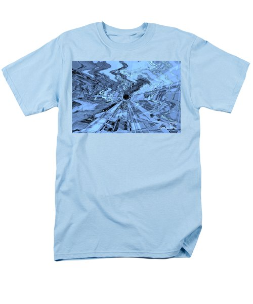 Ice Blue - Abstract Art T-Shirt by Carol Groenen