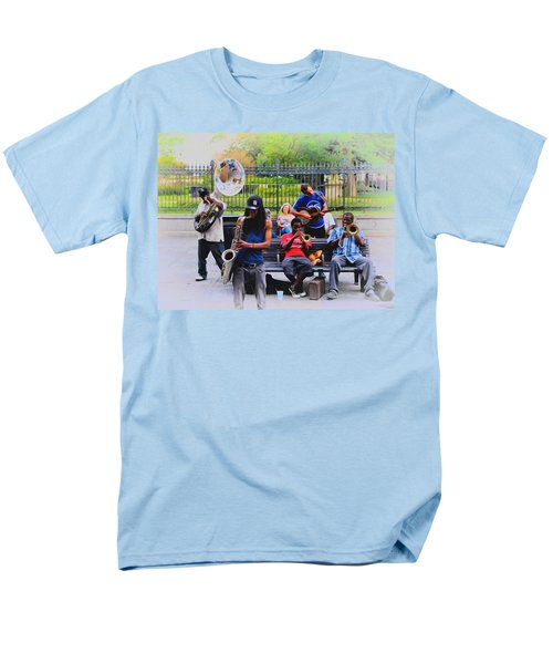 Jazz band at Jackson Square T-Shirt by Bill Cannon