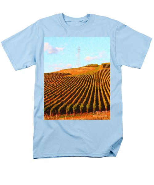Napa Valley Vineyard . Portrait Cut T-Shirt by Wingsdomain Art and Photography