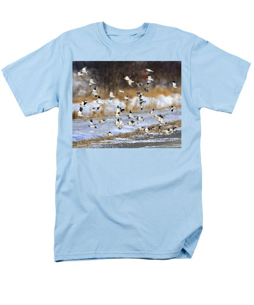 Snow Buntings Men's T-Shirt  (Regular Fit) by Tony Beck