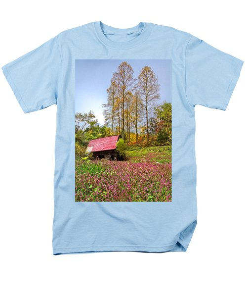 The Old Barn at Grandpas Farm T-Shirt by Debra and Dave Vanderlaan