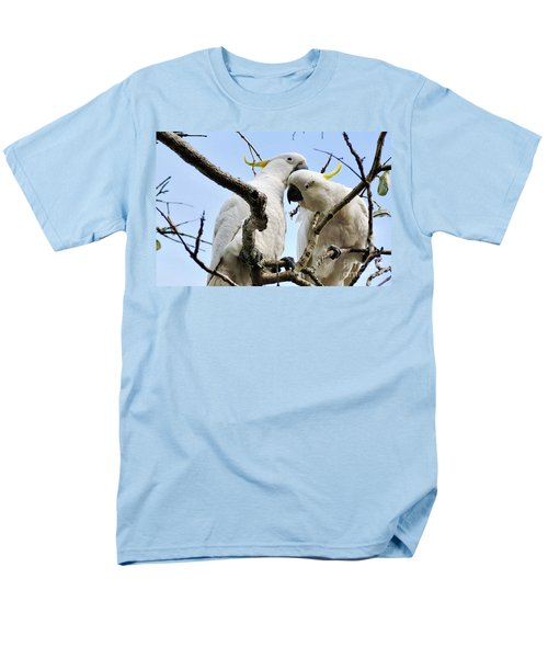 White Cockatoos Men's T-Shirt  (Regular Fit) by Kaye Menner