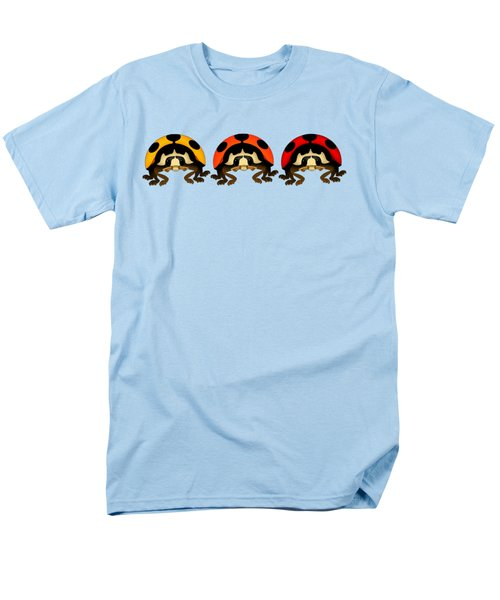 3 Bugs In A Row Men's T-Shirt  (Regular Fit) by Sarah Greenwell