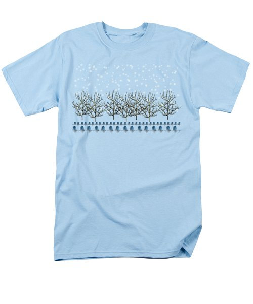 Winter Bluebirds In The Snow Men's T-Shirt  (Regular Fit) by Anne Kitzman