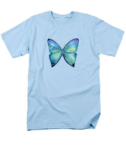 2 Morpho Aega Butterfly Men's T-Shirt  (Regular Fit) by Amy Kirkpatrick