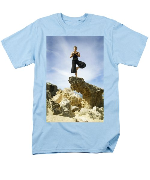 Woman doing yoga T-Shirt by Kicka Witte - Printscapes