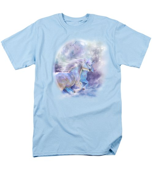 Unicorn Soulmates Men's T-Shirt  (Regular Fit) by Carol Cavalaris