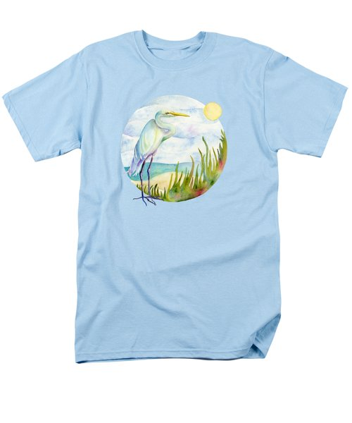 Beach Heron Men's T-Shirt  (Regular Fit) by Amy Kirkpatrick