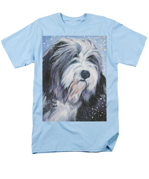 Bearded Collie in Snow T-Shirt by Lee Ann Shepard