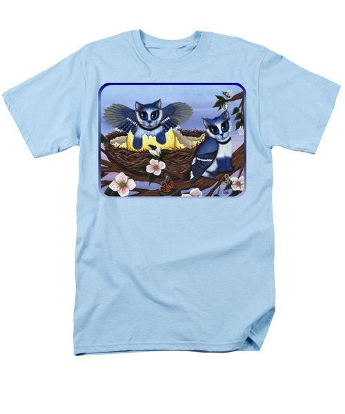Blue Jay Kittens Men's T-Shirt  (Regular Fit) by Carrie Hawks
