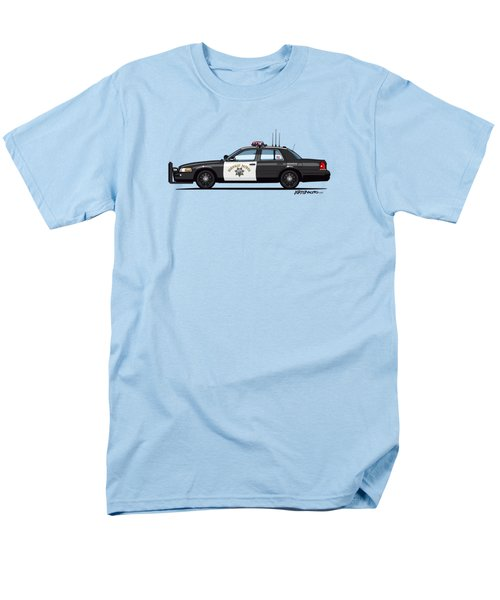 California Highway Patrol Ford Crown Victoria Police Interceptor Men's T-Shirt  (Regular Fit) by Monkey Crisis On Mars