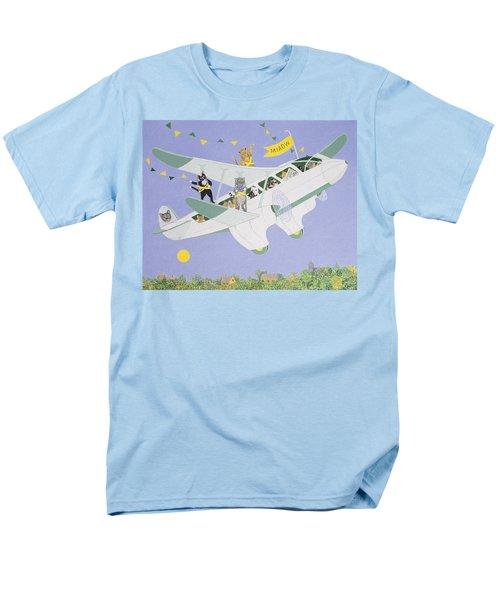Cat Air Show Men's T-Shirt  (Regular Fit) by Pat Scott