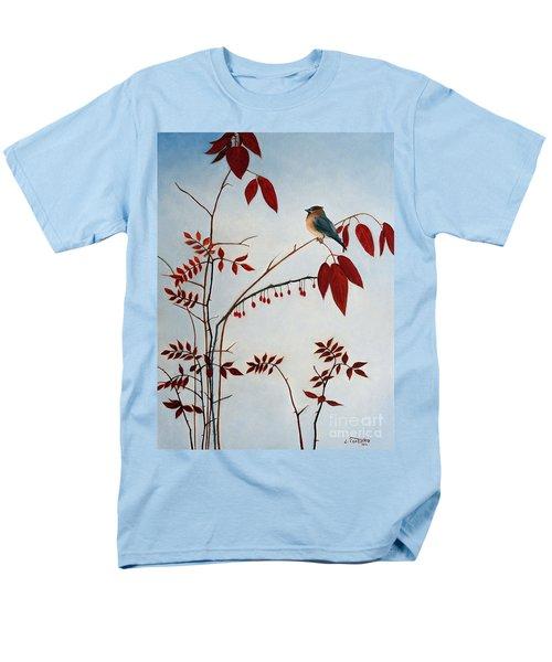 Cedar Waxwing Men's T-Shirt  (Regular Fit) by Laura Tasheiko