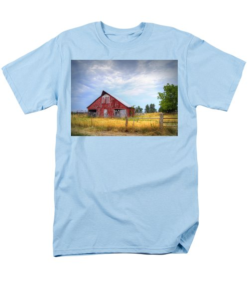 Christian School Road Barn Men's T-Shirt  (Regular Fit) by Cricket Hackmann