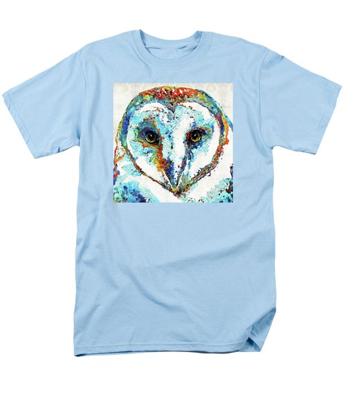 Colorful Barn Owl Art - Sharon Cummings Men's T-Shirt  (Regular Fit) by Sharon Cummings