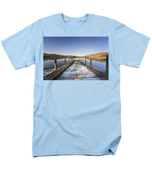 Dock In A Lake, Cumbria, England T-Shirt by John Short