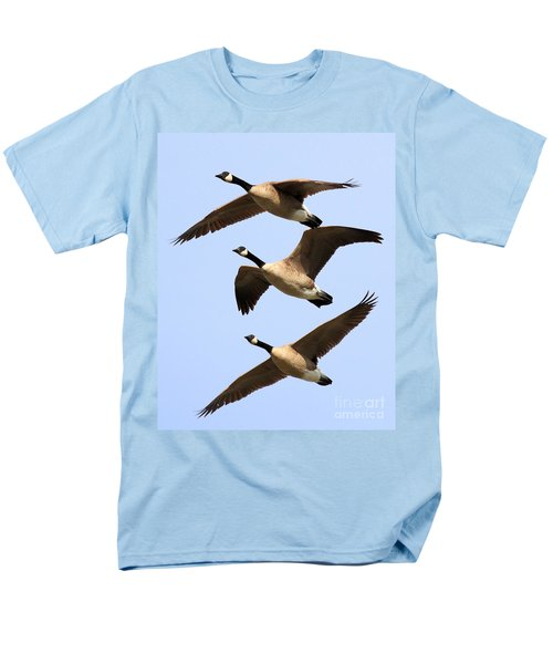 Flight of Three Geese T-Shirt by Wingsdomain Art and Photography