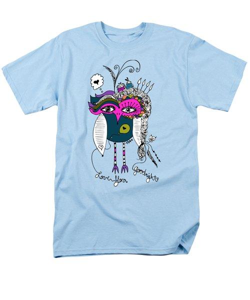 Goodnight Owl Men's T-Shirt  (Regular Fit) by Tara Griffin