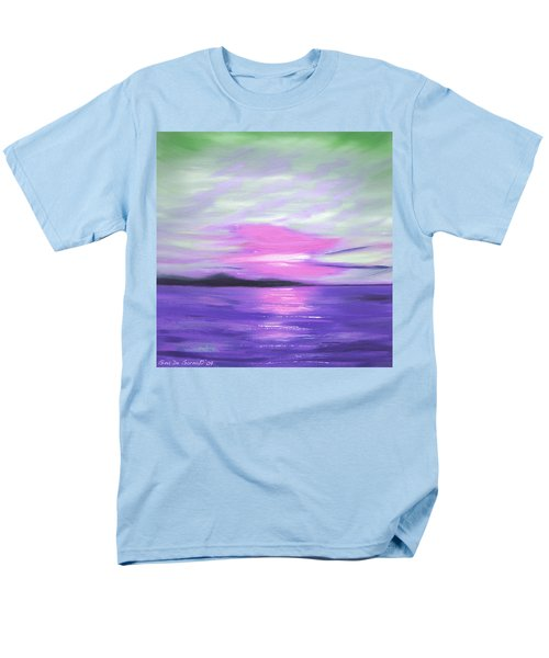 Green Skies and Purple Seas Sunset T-Shirt by Gina De Gorna