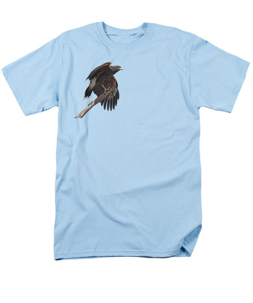 Harris Hawk - Transparent 2 Men's T-Shirt  (Regular Fit) by Nikolyn McDonald