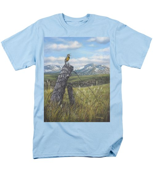 Meadowlark Serenade Men's T-Shirt  (Regular Fit) by Kim Lockman