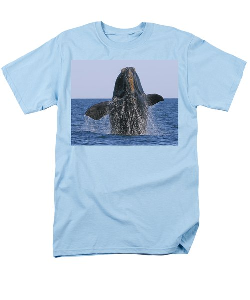 North Atlantic Right Whale breaching T-Shirt by Tony Beck