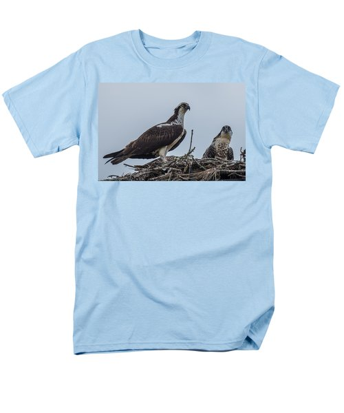 Osprey On A Nest Men's T-Shirt  (Regular Fit) by Paul Freidlund