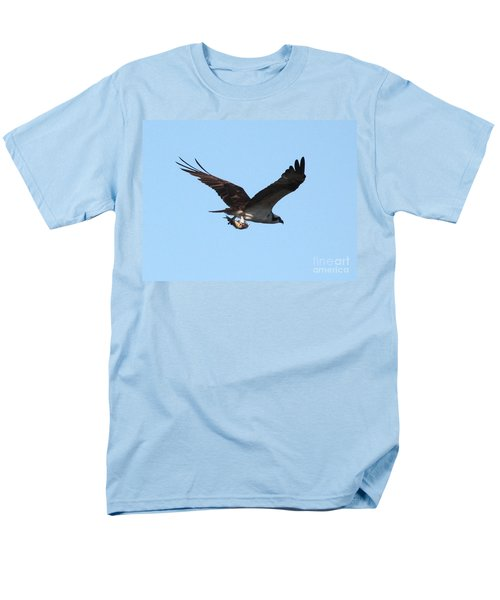 Osprey With Fish Men's T-Shirt  (Regular Fit) by Carol Groenen