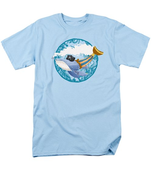 Pirate Whale Men's T-Shirt  (Regular Fit) by David Perez