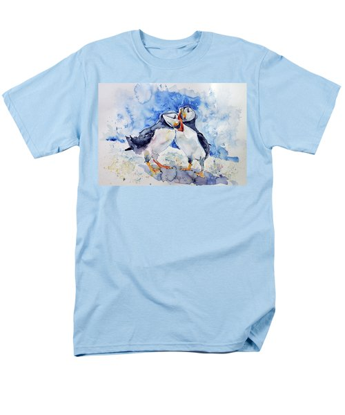Puffins Men's T-Shirt  (Regular Fit) by Kovacs Anna Brigitta