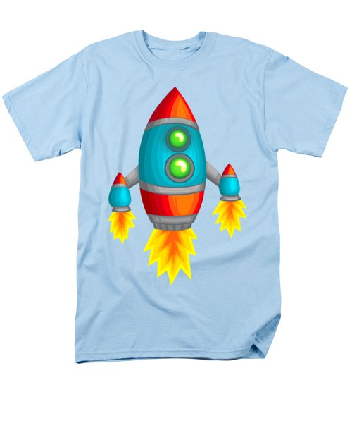 Retro Rocket Men's T-Shirt  (Regular Fit) by Brian Kemper