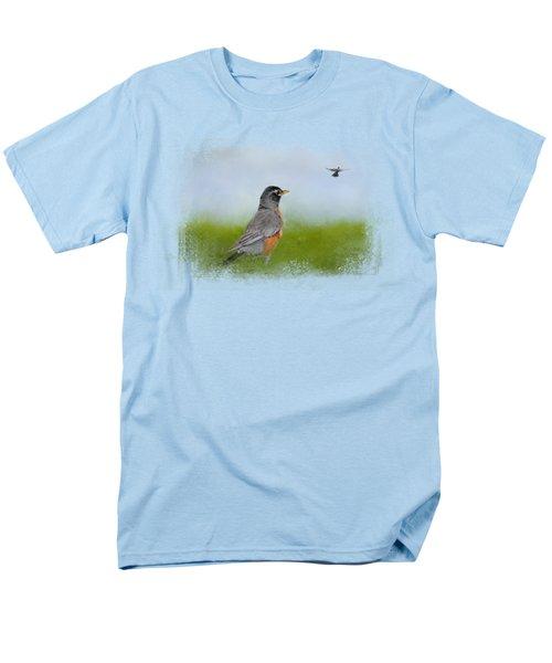 Robin In The Field Men's T-Shirt  (Regular Fit) by Jai Johnson