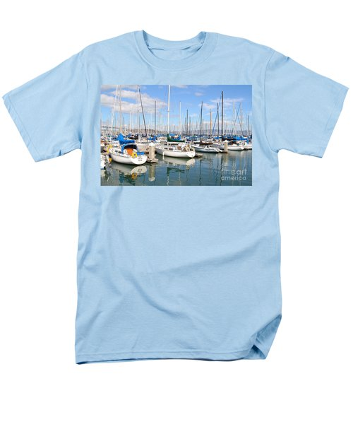 Sail Boats at San Francisco China Basin Pier 42 With The Bay Bridge in The Background . 7D7664 T-Shirt by Wingsdomain Art and Photography
