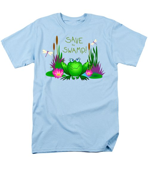 Save The Swamp Twitchy The Frog Men's T-Shirt  (Regular Fit) by M Sylvia Chaume