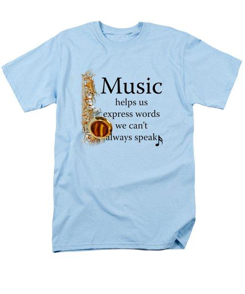 Saxophones Express Words Men's T-Shirt  (Regular Fit) by M K  Miller