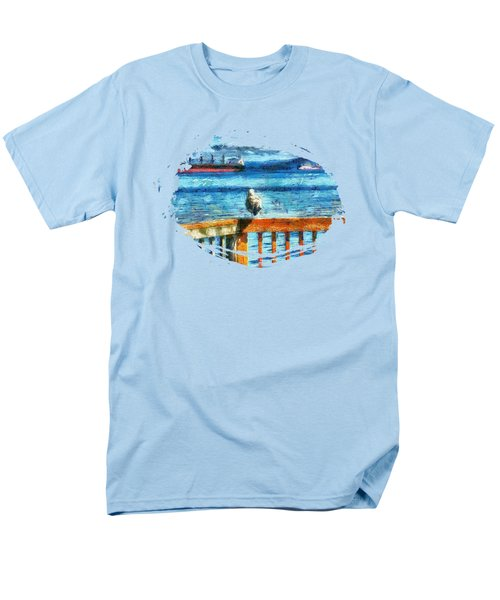 Seagull In Astoria  Men's T-Shirt  (Regular Fit) by Thom Zehrfeld