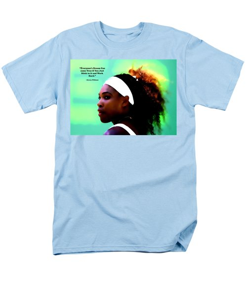 Serena Williams Motivational Quote 1a Men's T-Shirt  (Regular Fit) by Brian Reaves