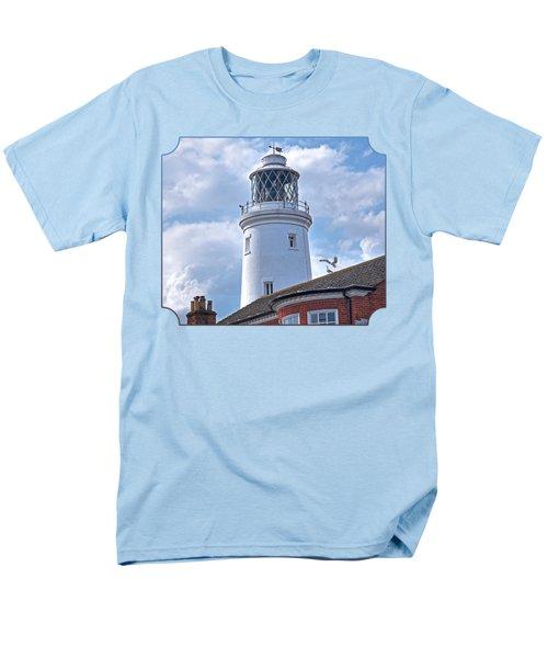 Sky High - Southwold Lighthouse Men's T-Shirt  (Regular Fit) by Gill Billington