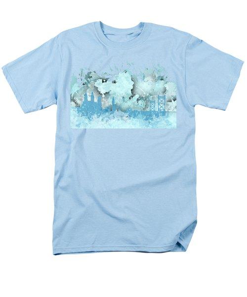 Smudge Philadelphia Skylines Men's T-Shirt  (Regular Fit) by Alberto RuiZ