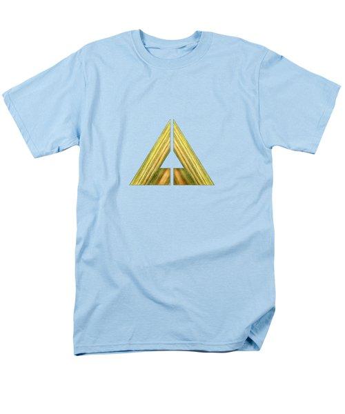 Split Triangle Green Men's T-Shirt  (Regular Fit) by YoPedro