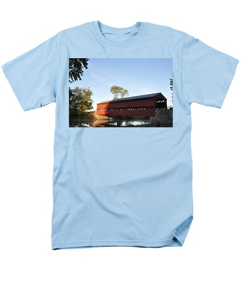 Sun Up at Sachs Covered Bridge T-Shirt by Bill Cannon