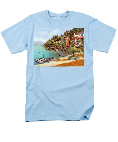 Varenna on Lake Como T-Shirt by Guido Borelli