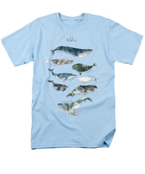 Whales Men's T-Shirt  (Regular Fit) by Amy Hamilton