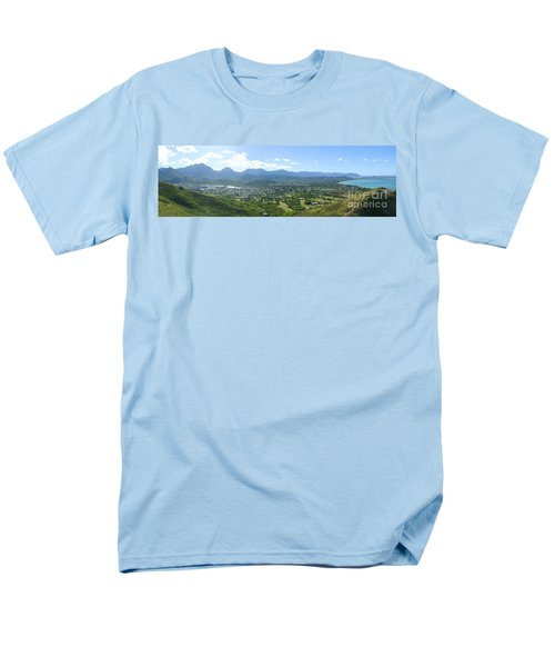 Windward Oahu Panorama I T-Shirt by David Cornwell/First Light Pictures, Inc - Printscapes