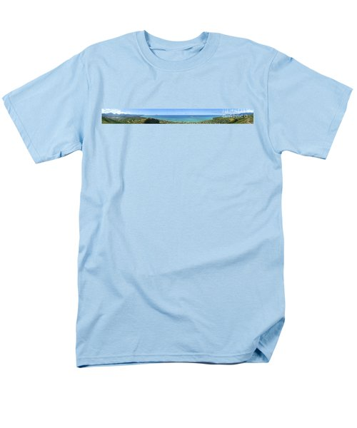 Windward Oahu Panoramic T-Shirt by David Cornwell/First Light Pictures, Inc - Printscapes