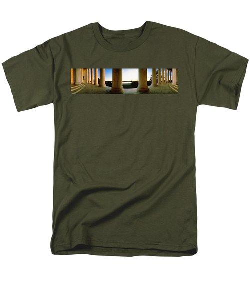 Jefferson Memorial Washington Dc Usa Men's T-Shirt  (Regular Fit) by Panoramic Images