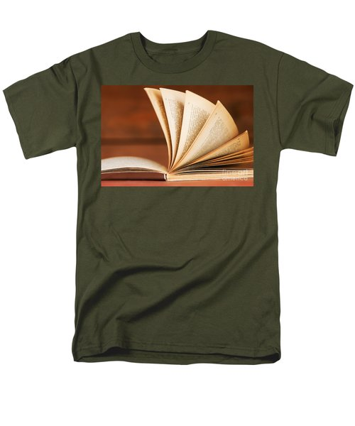 Open book in retro style T-Shirt by Michal Bednarek