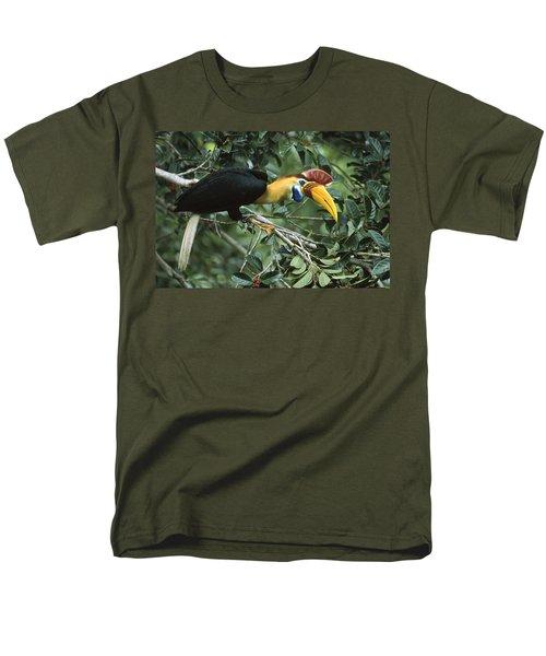Sulawesi Red-knobbed Hornbill Male Men's T-Shirt  (Regular Fit) by Mark Jones