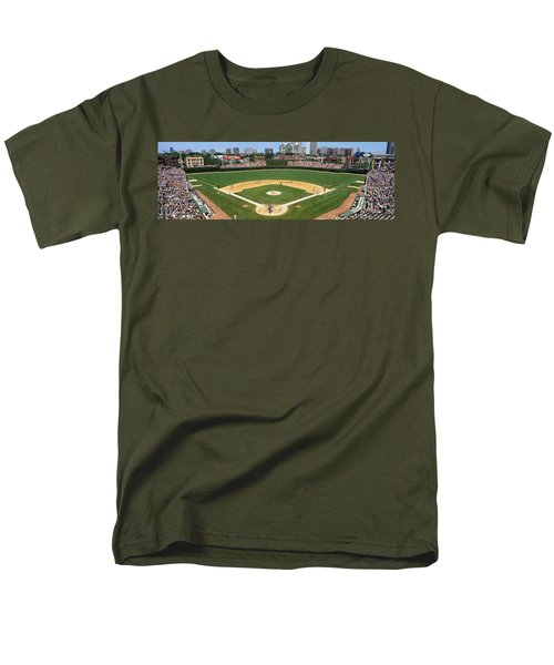 Usa, Illinois, Chicago, Cubs, Baseball Men's T-Shirt  (Regular Fit) by Panoramic Images