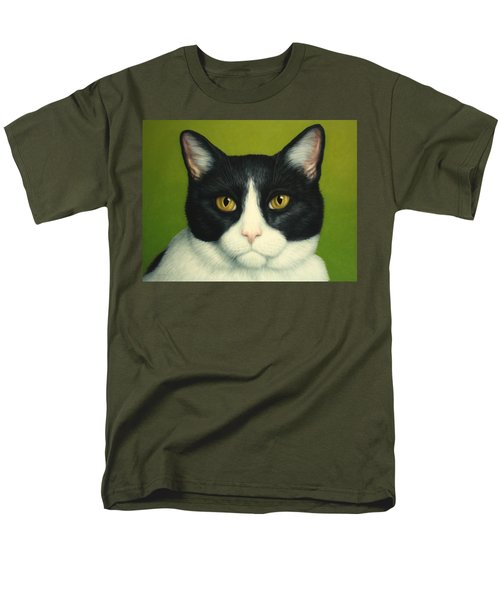 A Serious Cat T-Shirt by James W Johnson